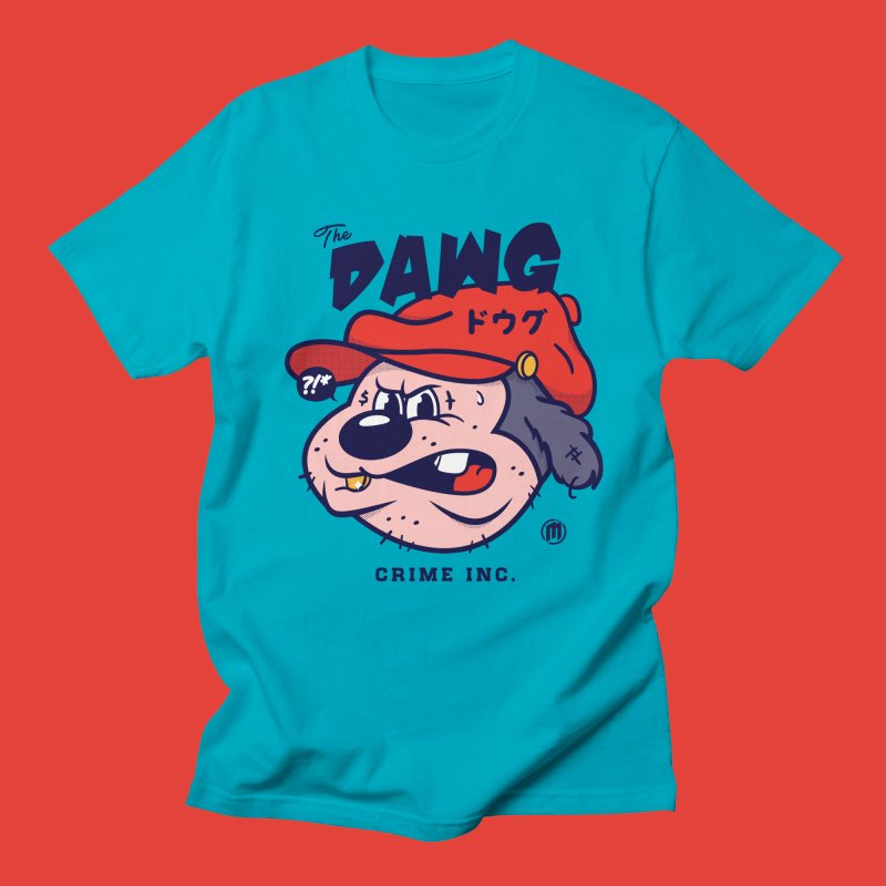 The Dawg in Men's Regular T-Shirt Cyan by MXM — ltd. collection