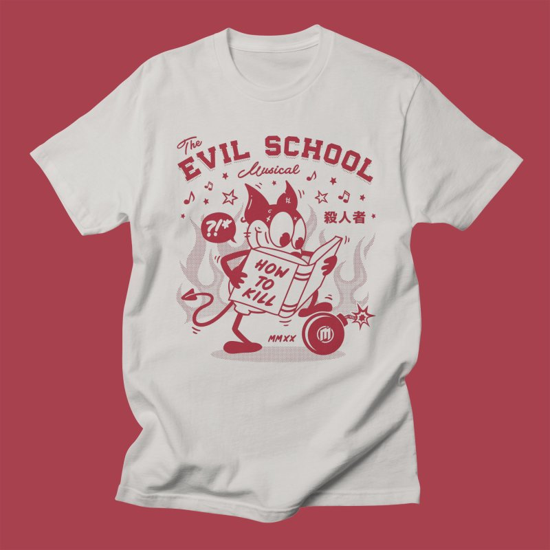 The Evil School in Men's Regular T-Shirt Stone by MXM — ltd. collection