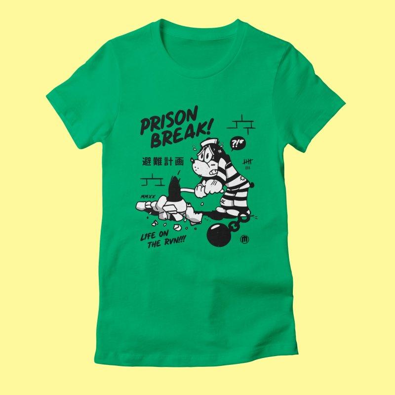 Prison Break in Women's Fitted T-Shirt Kelly by MXM — ltd. collection