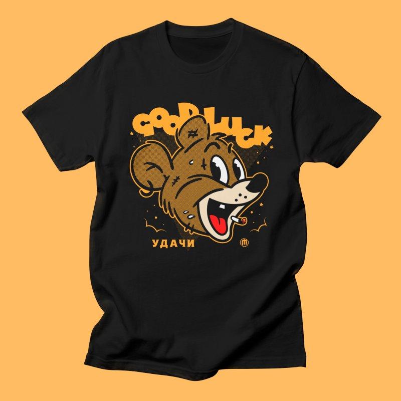 Good Luck in Men's Regular T-Shirt Black by MXM — ltd. collection