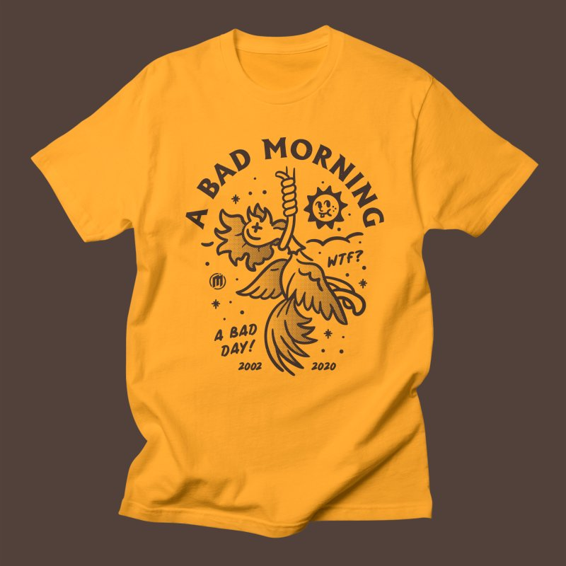 A Bad Morning in Men's Regular T-Shirt Gold by MXM — ltd. collection