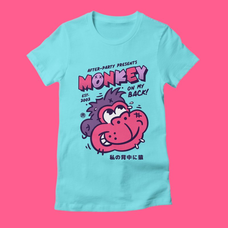 Monkey on my Back in Women's Fitted T-Shirt Cancun by MXM — ltd. collection