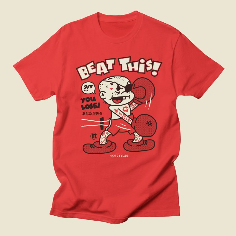 Beat This in Men's Regular T-Shirt Red by MXM — ltd. collection