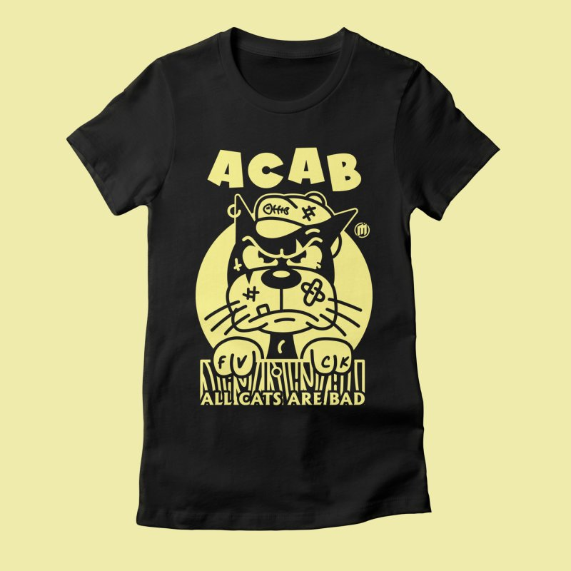 ACAB in Women's Fitted T-Shirt Black by MXM — ltd. collection
