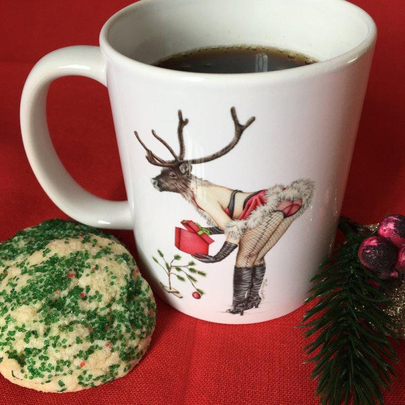 Santa's Secret Helper in Standard Mug White by MelJo JoJo's Artist Shop