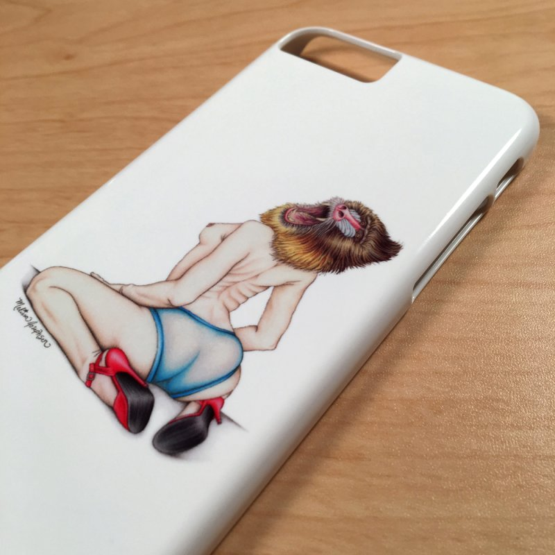 Lady in Blue in iPhone 6 / 6S Phone Case Slim by MelJo JoJo's Artist Shop