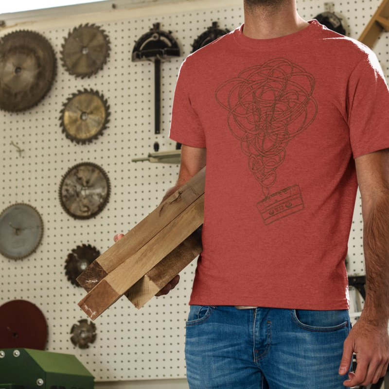 Remix in Men's Triblend T-Shirt Chili Red by The Mindful Tee