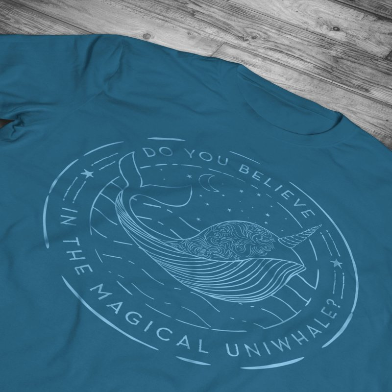 Do You Believe in the Magical Uni-Whale? by Moon Bear Design Studio's Artist Shop