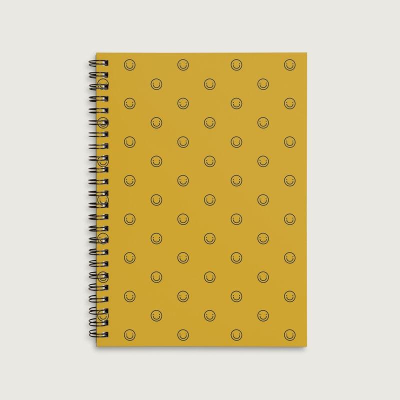 Smile Motif Pattern in Lined Spiral Notebook by Mr Loco Motif - Artist Shop