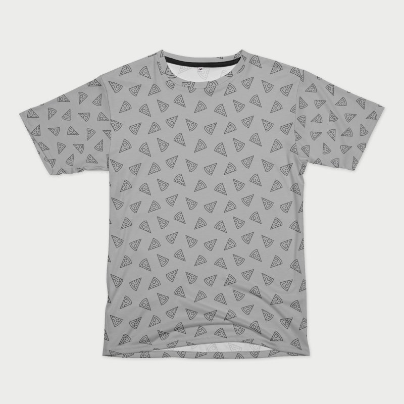 Pizza Motif Pattern in Men's T-Shirt Cut & Sew by Mr Loco Motif - Artist Shop