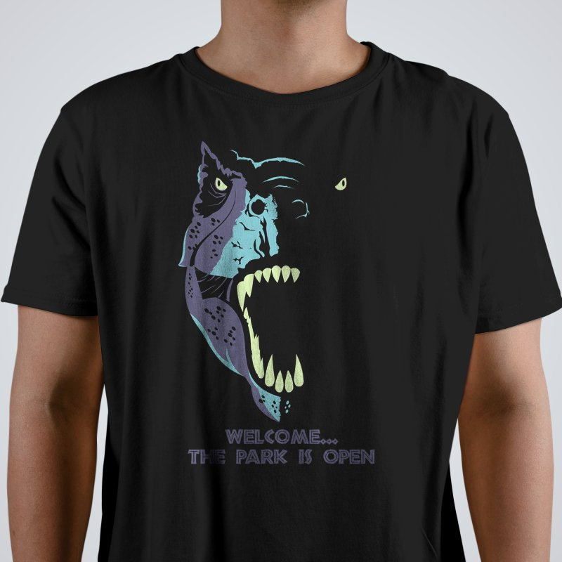 Jurassic Park in Men's Regular T-Shirt Black by Muchmoji Shop