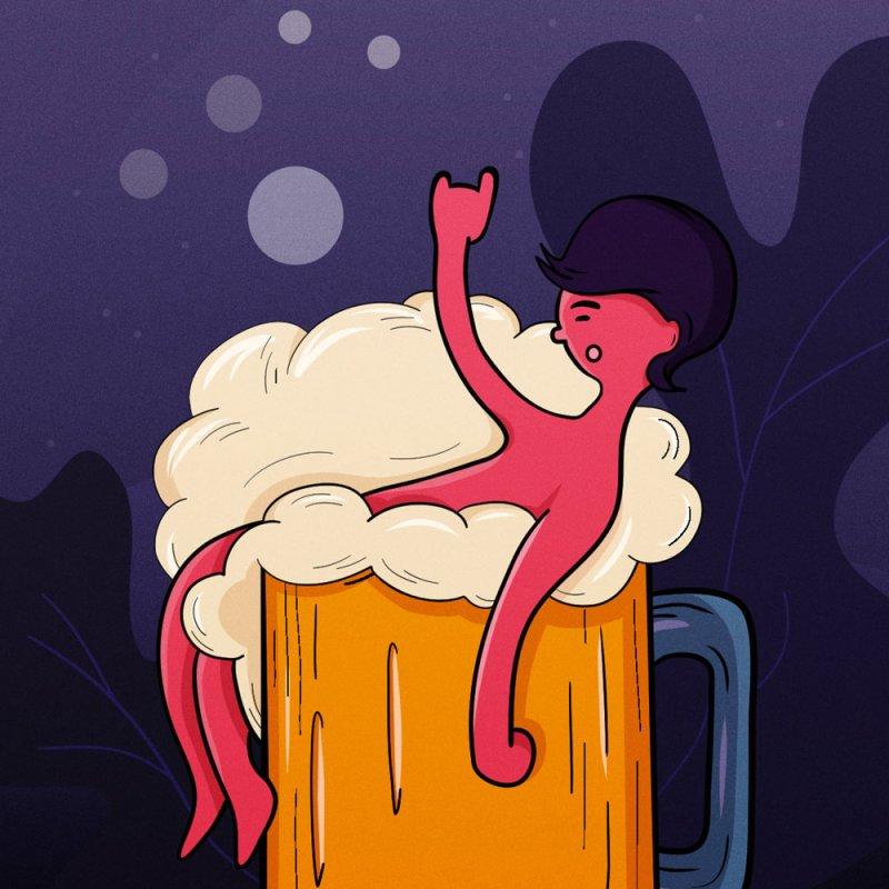 Beer bath by myagender