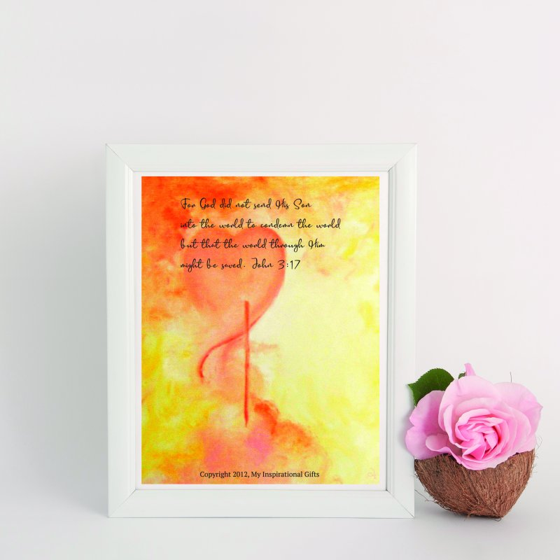 John 3:17 Loved by MyInspirationalGifts Artist Shop