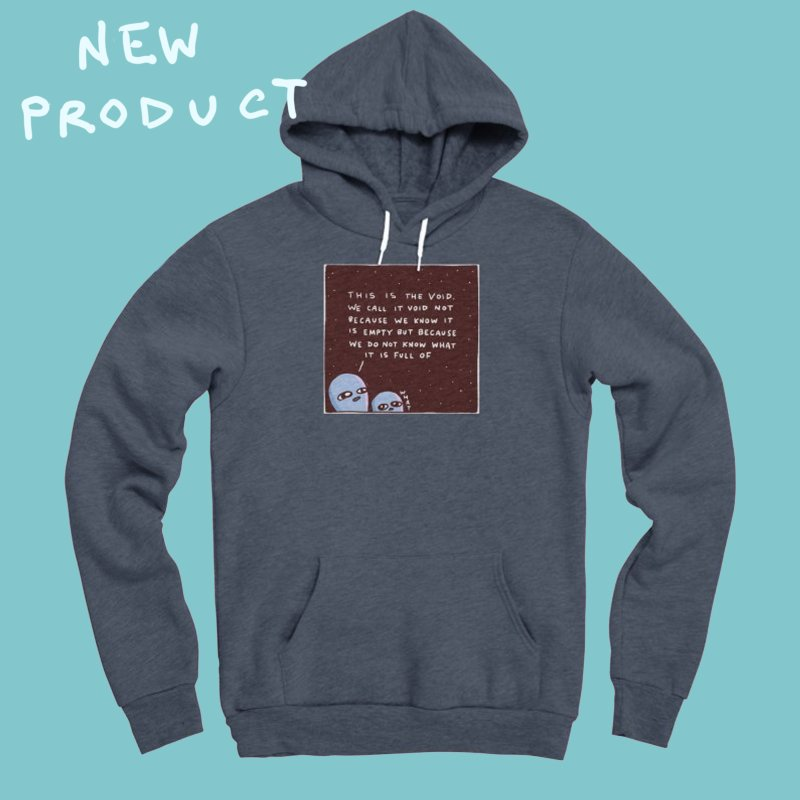 STRANGE PLANET SPECIAL PRODUCT: THE VOID in Men's Sponge Fleece Pullover Hoody Heather Indigo by Nathan W Pyle