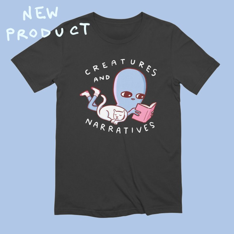 STRANGE PLANET SPECIAL PRODUCT: CREATURES AND NARRATIVES in Men's Extra Soft T-Shirt Smoke by Nathan W Pyle