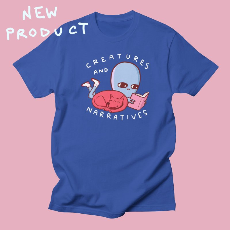 STRANGE PLANET SPECIAL PRODUCT: CREATURES AND NARRATIVE (MORAL CREATURE EDITION) in Women's Regular Unisex T-Shirt Royal Blue by Nathan W Pyle
