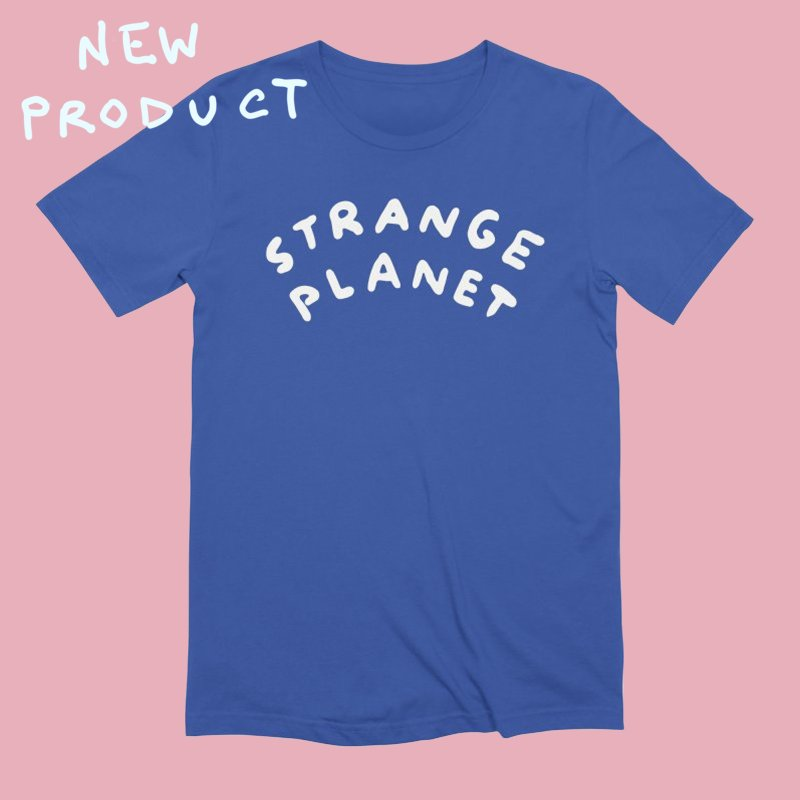 STRANGE PLANET: LOGO in Men's Extra Soft T-Shirt Royal Blue by Nathan W Pyle
