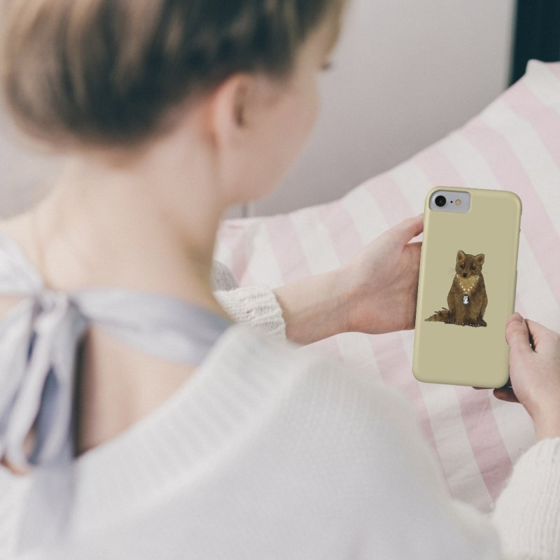 Lady Pine Marten in iPhone 8 Phone Case Slim by Natina Norton Designs