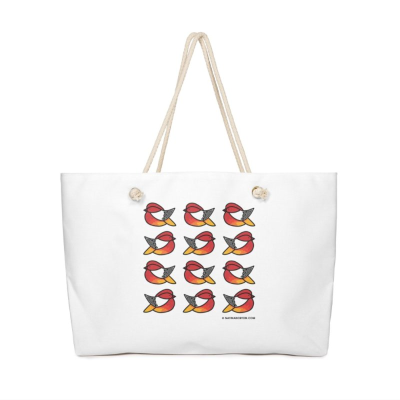 Chubby Birds in Weekender Bag by Natina Norton Designs