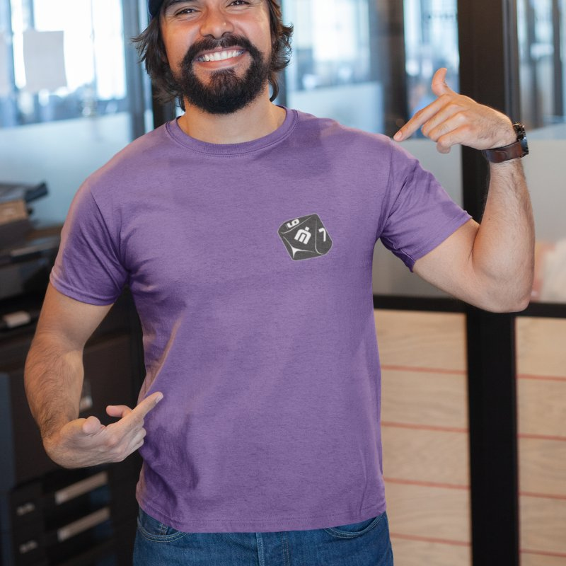 Never Idle - Dice 2018 - Badge in Men's Extra Soft T-Shirt Purple by Never Idle