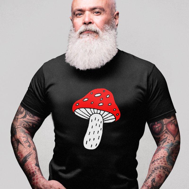 Mushroom Vibes in Men's Premium T-Shirt Black by Ekaterina Zimodro's Artist Shop