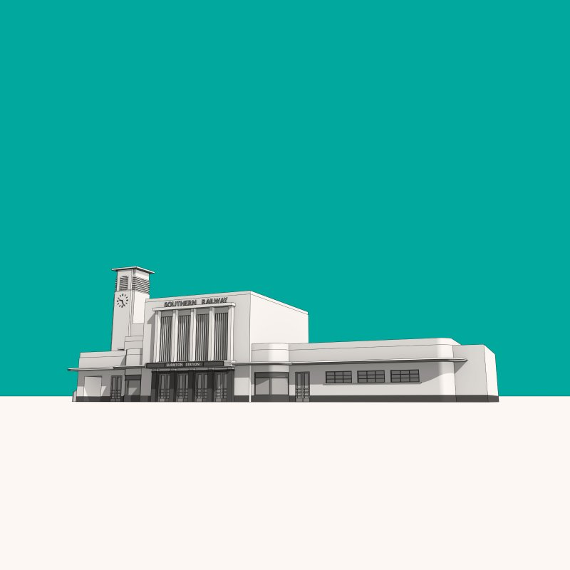 Surbiton Station by Pig's Ear Gear on Threadless