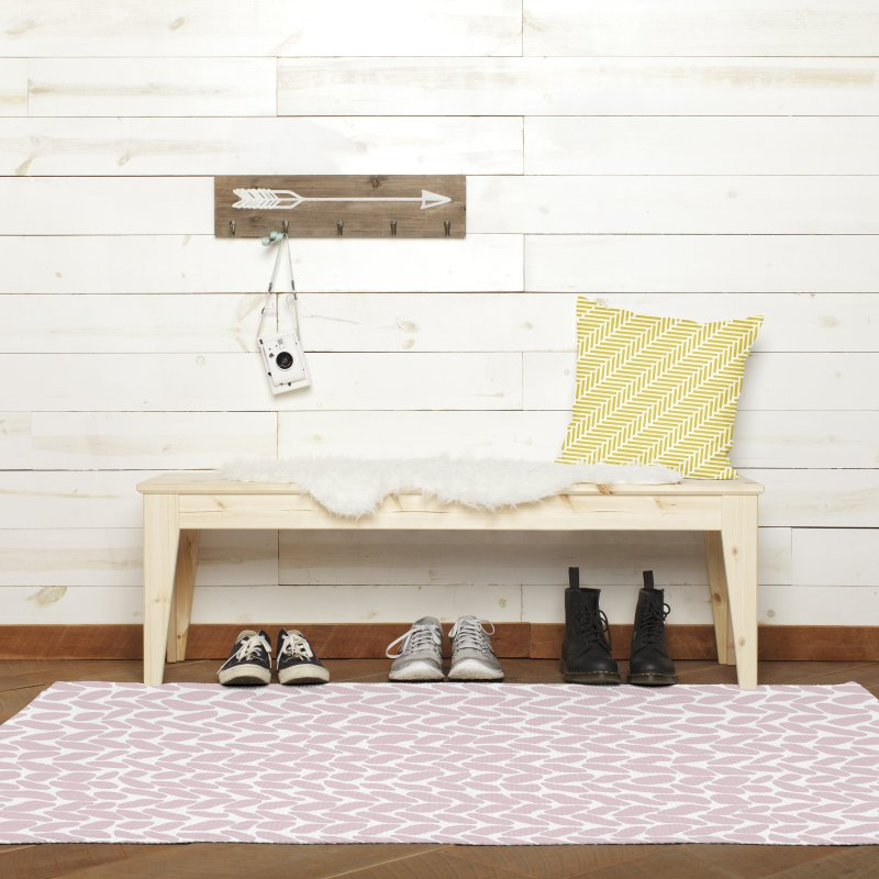 Herringbone Yellow in Throw Pillow by Project M's Artist Shop