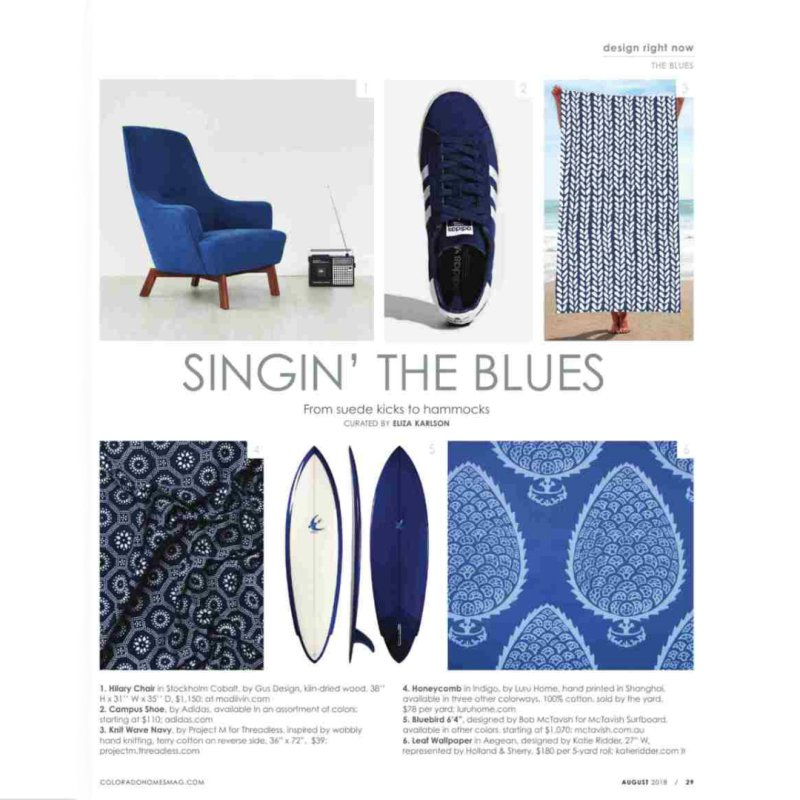 Knit Wave Navy in Beach Towel by Project M's Artist Shop