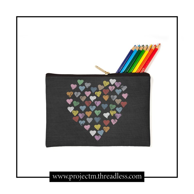 Distressed Hearts Heart B in Zip Pouch by Project M's Artist Shop