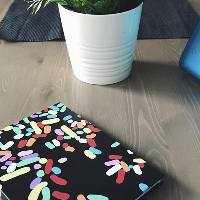 Sprinkles in Blank Journal Notebook by Project M's Artist Shop