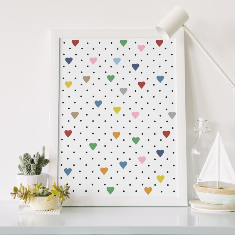 Pin Point Hearts in Fine Art Print by Project M's Artist Shop