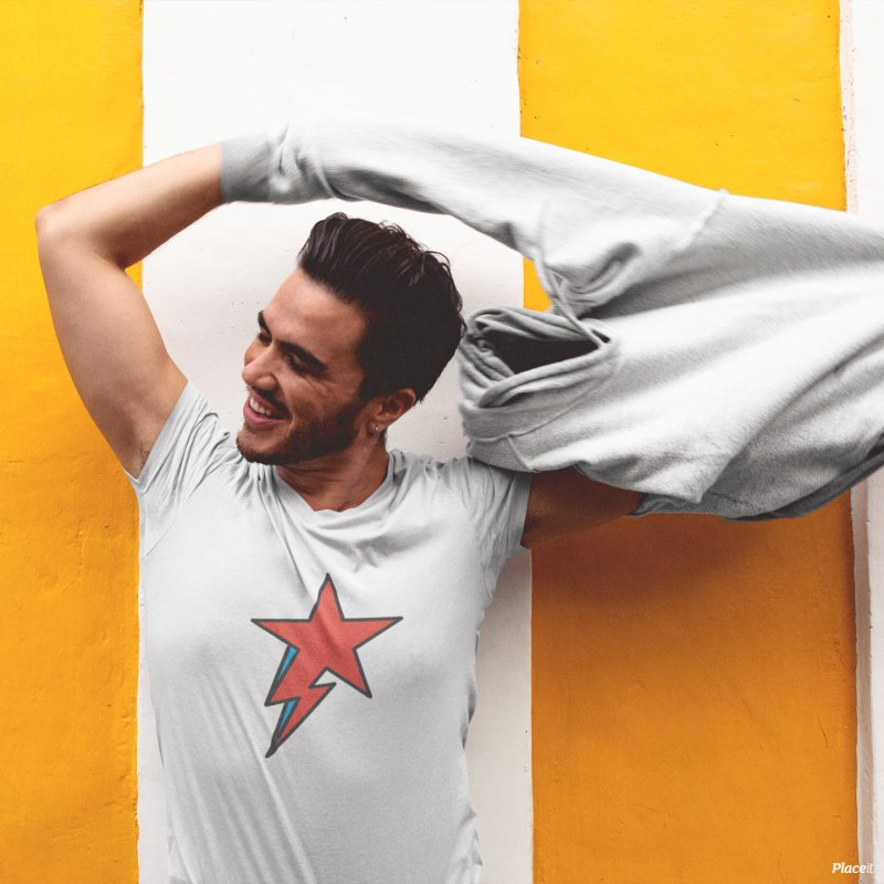 The Prettiest Star in Men's T-shirt White by Quick Brown Fox