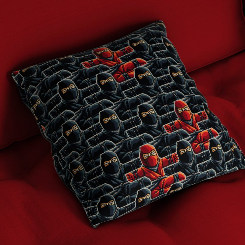 Ninja Kicks in Throw Pillow by ramos's Artist Shop
