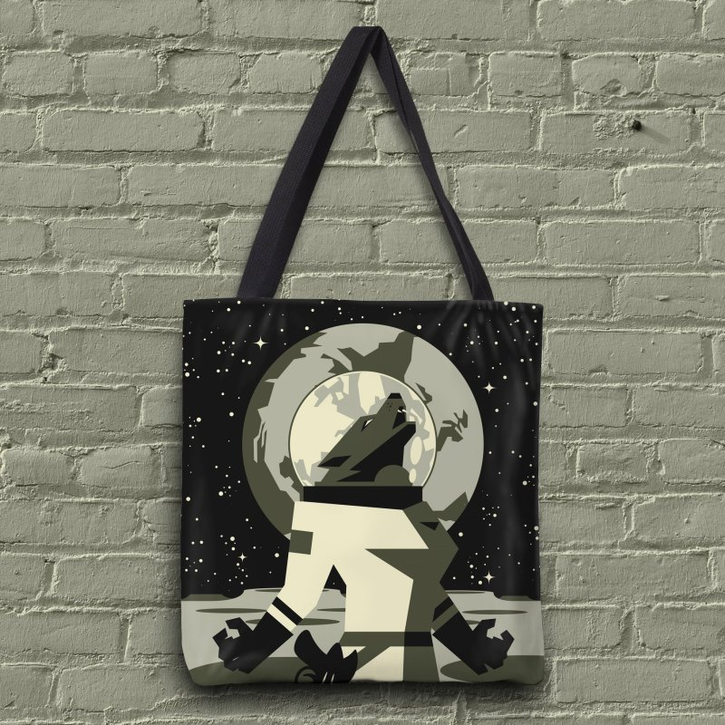 Werewolf in the Moon in Tote Bag by ramos's Artist Shop