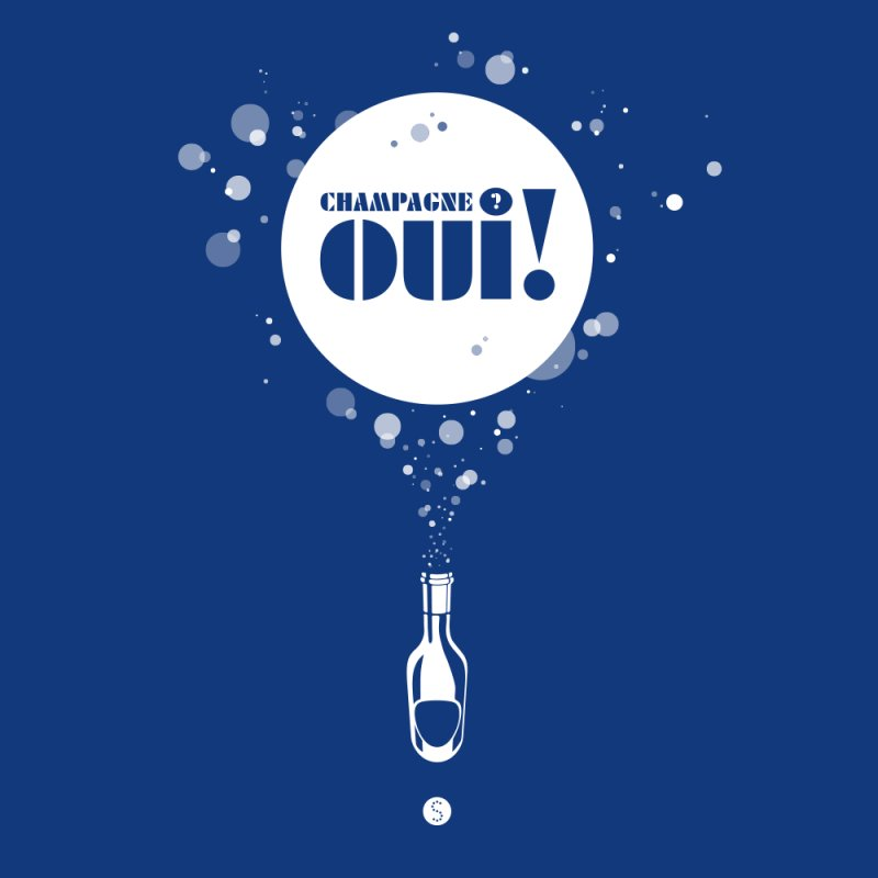 Champagne? Oui! by Salty Shirts