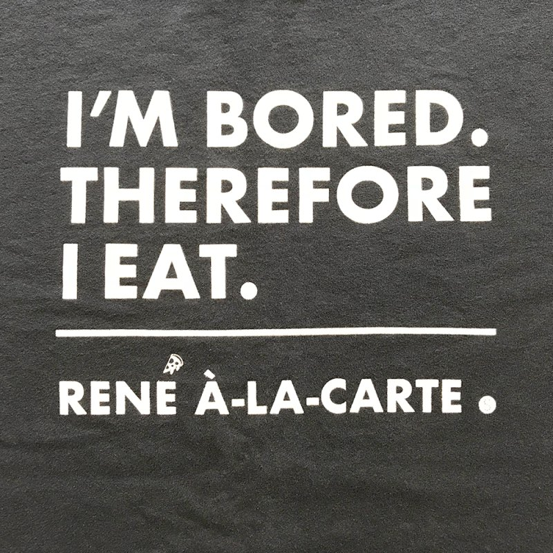 I'm Bored. Therefore I Eat (Darks) by Salty Shirts