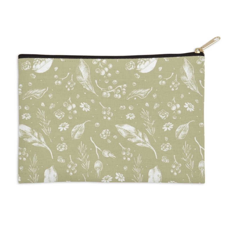 Apothecary Pattern in Zip Pouch by Tenderheart Studio