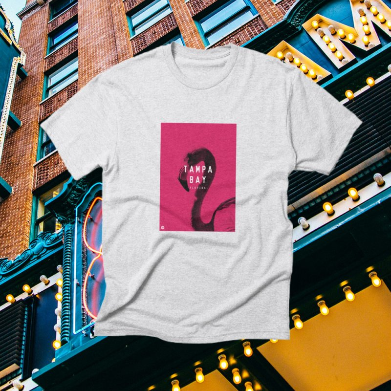 TAMPA BAY | FLamingo in Men's Triblend T-Shirt Heather White by thatssotampa's Artist Shop
