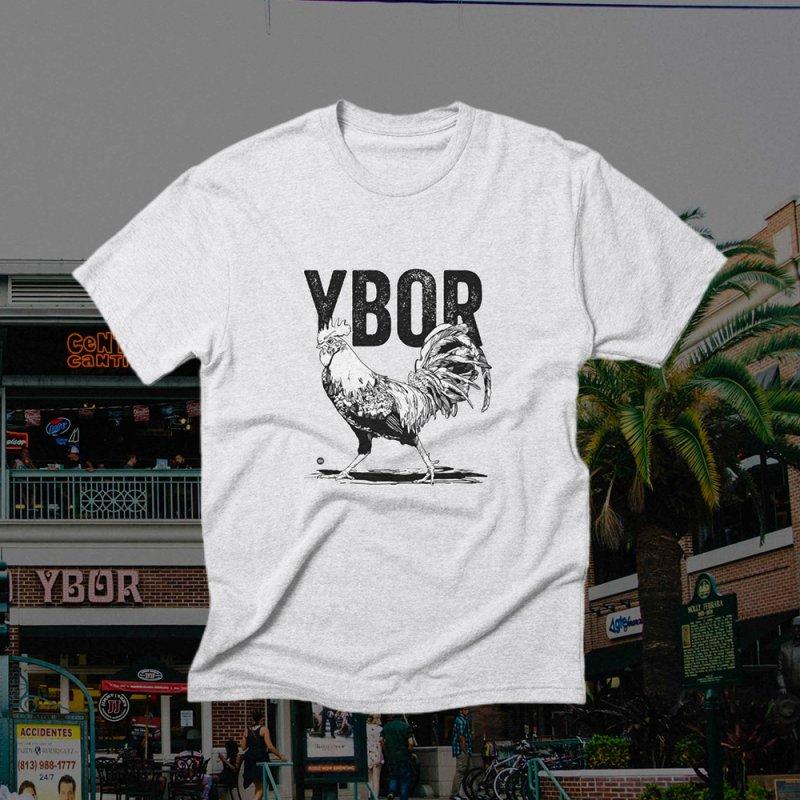 YBOR in Men's Triblend T-Shirt Heather White by thatssotampa's Artist Shop