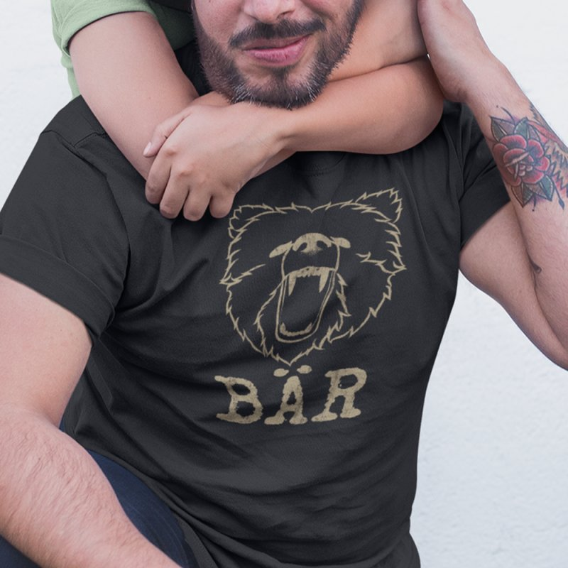 German Bear in Men's Heavyweight T-Shirt Black by The Bearly Brand