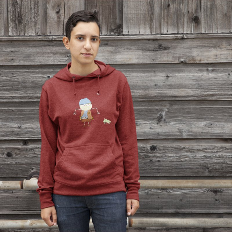 Banana Cowboy Joe in Men's French Terry Pullover Hoody Heather Red by thechumpies