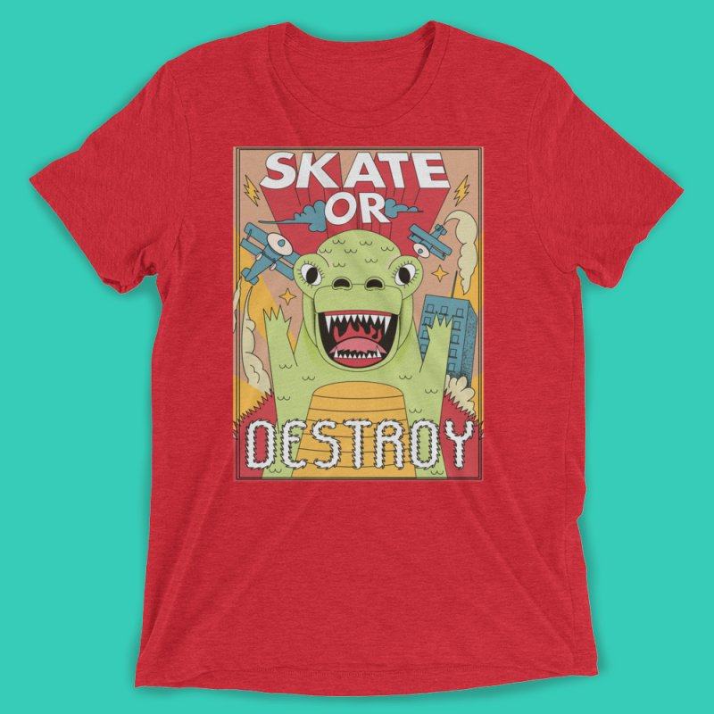Skate or destroy everything Godzilla! by The Cool Orange