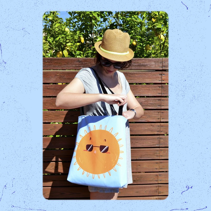 Holidays mode in Tote Bag by Tina Tamay