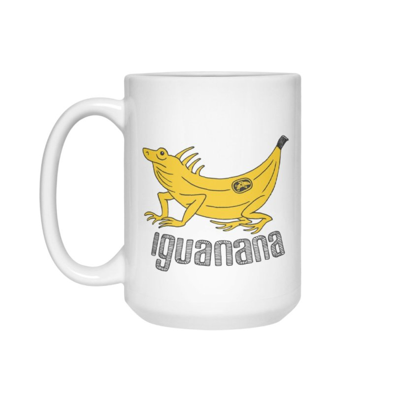 Iguanana in Standard Mug White by Tom Chitty merch, yo.