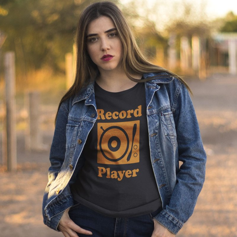 Record Player in Men's Extra Soft T-Shirt Navy by Toxic Onion