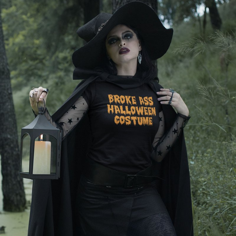Broke Ass Halloween Costume in Men's Extra Soft T-Shirt Black by Toxic Onion