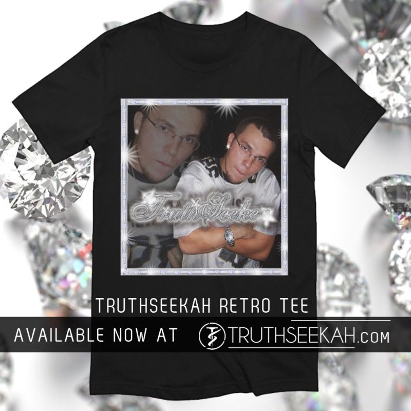TruthSeekah Retro Rap Tee in Men's Extra Soft T-Shirt Black by TruthSeekah Clothing