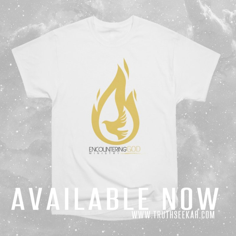 Holy Spirit Fire Tee in Men's Extra Soft T-Shirt White by TruthSeekah Clothing