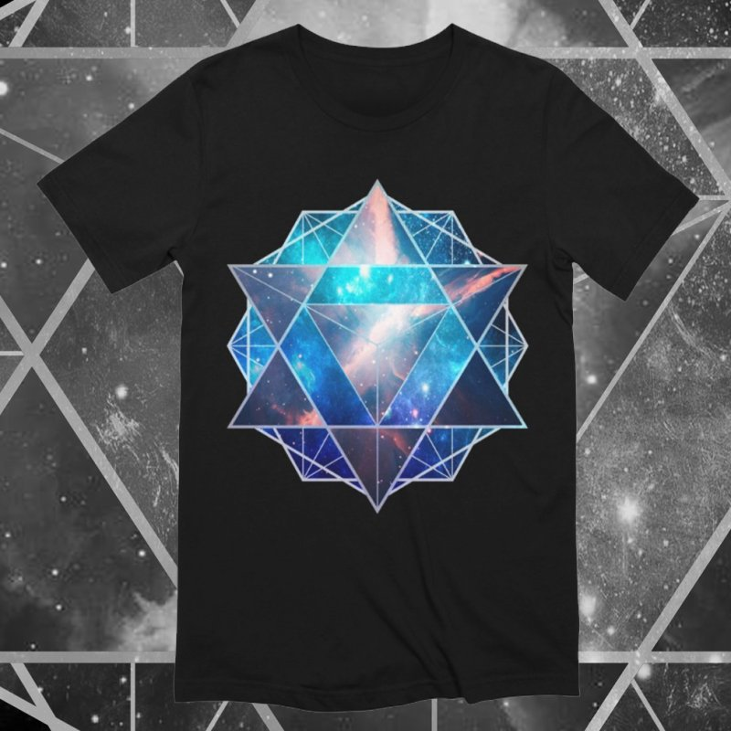 Merkaba | Sacred Geometry Tee in Men's Extra Soft T-Shirt Black by TruthSeekah Clothing