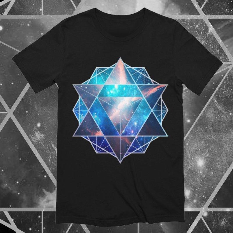 Merkaba | Sacred Geometry Tee in Men's Extra Soft T-Shirt Black by TruthSeekah Clothing